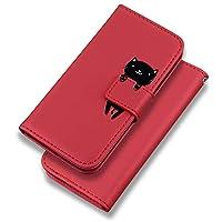 iPhone 11 Pro ケース 手帳型 iPhone 11 Pro ケース 手帳 カード収納 スタンド機能 アイフォン11 Pro ケース 手帳型 高級PUレザーケース マグネット アイフォン 11 Pro 財布型 スマホケース(iPhone 11 Pro 5.8 inch対応) 赤