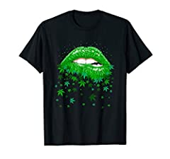 This Sexy Lips Cannabis Marijuana Weed Pot Leaf Lover T Shirt is a great tee idea for man, woman, girl, boy, friend who loves to smoke weed, marijuana, blunts, cannabis at 420 This shirt makes great gift for Xmas, Christmas, New year, Birthday, Thank...