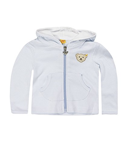 Steiff Unisex - Baby Sweatshirt,Blau (Steiff Baby Blue 3023),80