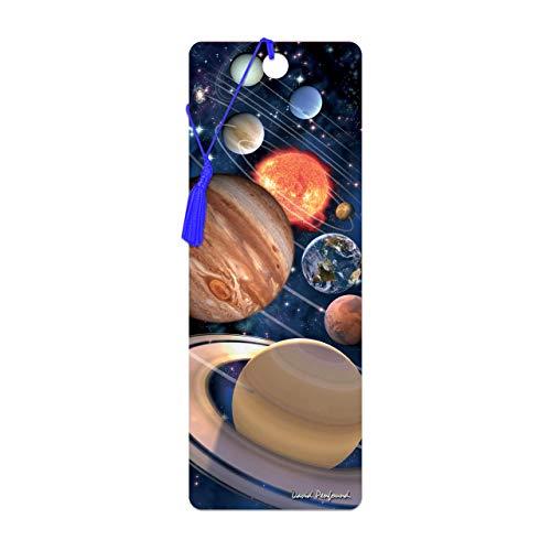 3D LiveLife Lesezeichen - Unser Sonnensystem von Deluxebase. Ein Space-Lesezeichen mit linsenförmigen 3D-Kunstwerken, lizenziert von dem bekannten Künstler David Penfound