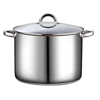 Cook N Home 16 Quart Stockpot with Lid Stainless Steel