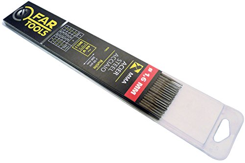 Fartools 150703 - Electrodos de soldadura (tipo rutilo, 1,6 mm de diámetro, 300 mm de longitud, 50 unidades)