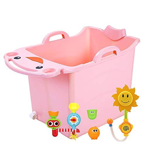 ZJZ Kids Kinderbad Groot, Garnering Volwassen Opvouwbare Badkuip Kunststof Multifunctionele Draagbare Badvat Huishoudelijke Baby Kinderbad Zwembad 2 Kleuren