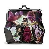 Anime JoJo's Bizarre Adventure Cartera de piel con cierre de gran capacidad para mujeres y hombres cambiantes, bolsa de almacenamiento, bolsas de embrague