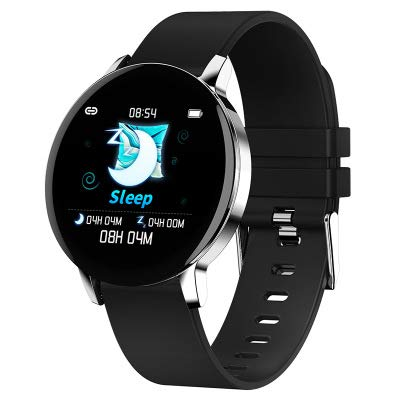 RHSMW Fitness-Tracker Schrittzähler Metall Wasserdicht Elektronisch Mode Bluetooth Intelligente Uhr Sport Armband,B