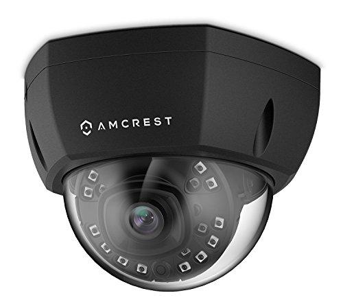 Amcrest ProHD Outdoor 4-Megapixel PoE Vandal Dome IP Security Camera, 2.8mm Lens, IP67 Weatherproof, MicroSD Storage, IK10 Vandal-Proof, IP4M-1028E (Black)