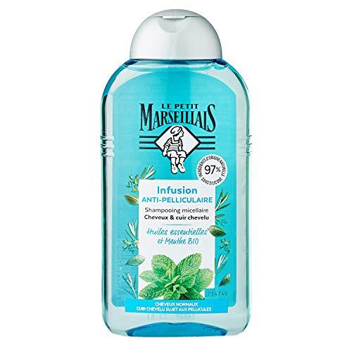 Le Petit Marseillais Shampooing Anti-Pelliculaire Infusion Huiles Essentielles Et Menthe Bio - 250 ml