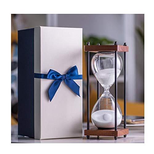 JINSUO NWXZU Eieruhr, Retro Sanduhr Timer, Familie Kreative Verzierungen, Vier-Säulen-Unterstützung, Zeit 30 Minuten, Feiertags-Geschenk-schönes Geschenk (Color : White, Size : 30 min)