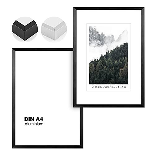 johgee 2 marcos de fotos de aluminio, soporte o marco...