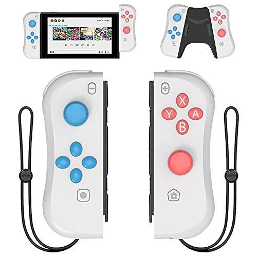 Joy Con Controller Replacement Campatiable for Nintendo Switch - Left and Right Neon Joycon Pad with Wrist Strap, Alternatives for Nintendo Switch