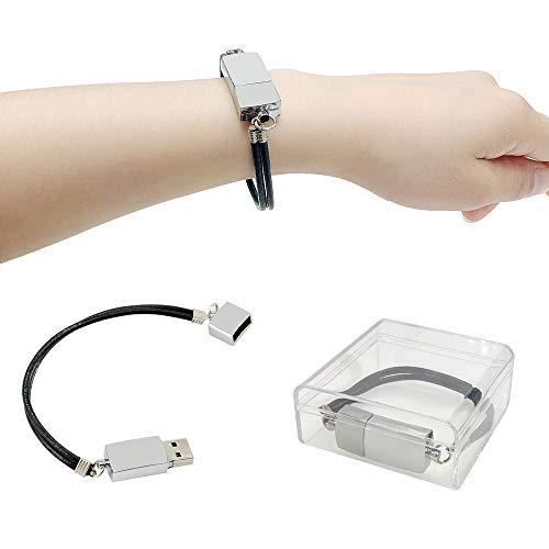 16 GB di chiavetta USB in pelle + metallo braccialetto braccialetto polsino pen drive pen drive saltare unità memory stick archiviazione dati U disco regalo di Civetman
