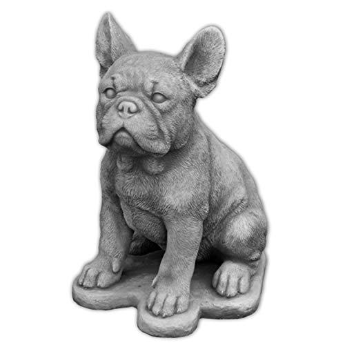 gartendekoparadies.de Massive Steinfigur Hund Französische Bulldogge Bully aus Steinguss frostfest