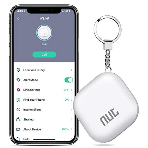 Key Finder, Saitake Key Finder with App for Android/iOS Phone, Key Finder Locator for Purse Wallet Keychain,Phone Finder with One Touch Find & Anti-Loss Function, White
