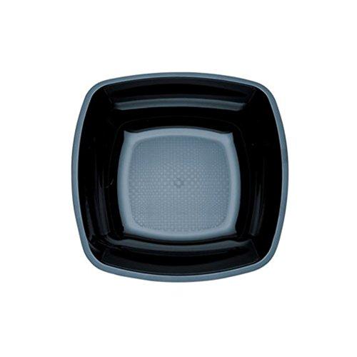 PLATTE POLYSTER RIGID QUADRATEN BLACK 25 PZ - PLASTICA USA en GETTA