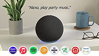 Echo (4th Gen) | With premium sound, smart home hub, and Alexa | Charcoal (B07XKF5RM3) | Amazon price tracker / tracking, Amazon price history charts, Amazon price watches, Amazon price drop alerts
