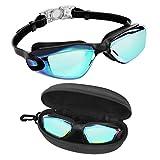 Bezzee Pro Gafas de Natación - gafas natacion antivaho Protección UV con Estuche de Almacenamiento – Herméticas y...
