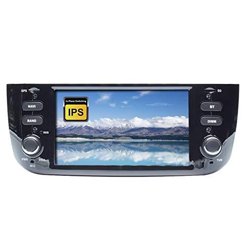 QIQIDIAN Android 10.0 Auto Radio Estéreo Unidad Principal Navegación GPS Reproductor Multimedia Compatible con Fiat Linea Punto EVO 2012 2013 2014 2015,4g+64g