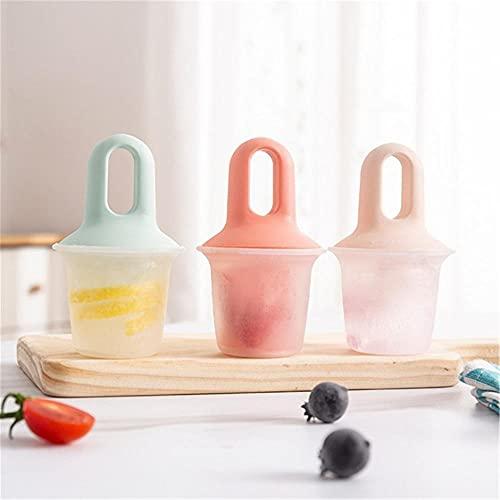 Moldes Helados de silicona, Mini Moldes de paletas de hielo, Ideal para la dentición Hoblería de cocina para el hogar Reutilizable para niños DIY creativo 3PACK