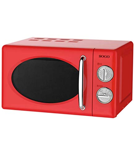Microondas estilo Retro, capacidad 20 Litros, 700 W, temporizador, varios niveles de potencia