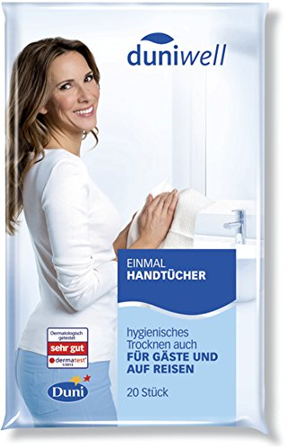 Duni Einmal-Handtücher Airlaid weiß, 25 x 40 cm, 20 Stück 25 x 40 cm