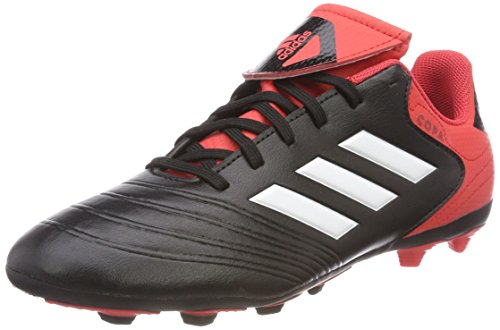 adidas Unisex-Kinder Copa 18.4 FxG Fußballschuhe, Schwarz (Core Black/Footwear White/Real Coral), 38 EU