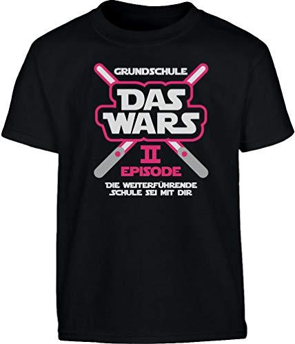 Grundschule Abschluss & Schulanfang Das Wars Rosa Laser Mädchen T-Shirt 11-12 Jahre (152cm) Schwarz