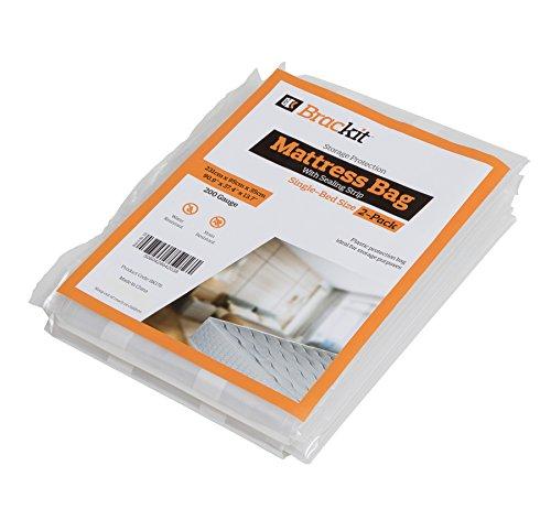 2 St. Matratzen Schutzhüllen sicherer Matratzenvollschutz Matratzenlagerung mit Klebeverschluss Einzelbett 231x95x35cm Matratzenfolie Aufbewahrungshülle
