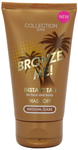 Collection 2000 Bronze Me! Instant Wash Off Tan For Face And Body 60ml-Medium/Dark