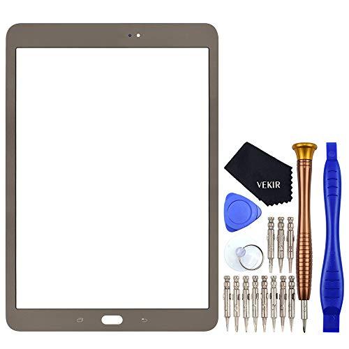 VEKIR Oro SM-T820 Reparación de Cristales de Pantalla reemplazo Compatible con Samsung Galaxy Tab S3 9.7