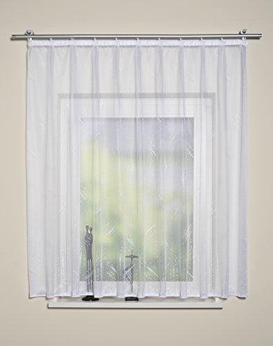 Home Fashion Fertigstore Jacquard, Stoff, weiß, 125 x 500 cm