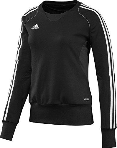 adidas Damen Pullover T12 Team Crew Sweater X13715, Schwarz/Weiß, 52