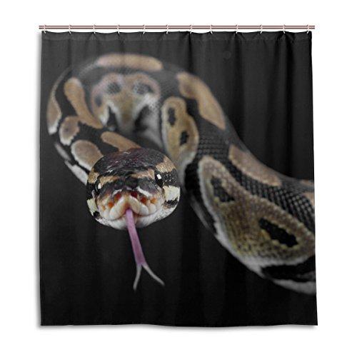 MyDaily Python Schlangen-Duschvorhang, 167,6 x 182,9 cm, schimmelresistent und wasserfest, Polyester-Dekoration
