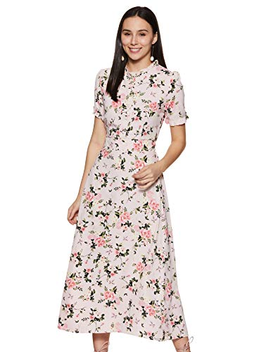 Harpa Women's Synthetic A-Line Midi Casual Dress