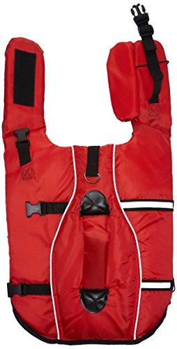 Trixie 30142 Schwimmweste, für Hunde, S: 36 cm/max. 20 kg, rot/schwarz
