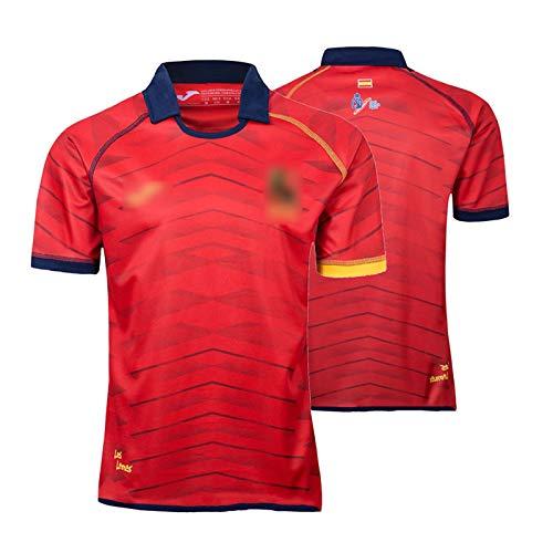 2019 España Rugby Jersey, España Equipo Nacional De Manga Corta Camiseta De Rugby Camisetas De Polo, Entrenamiento De Concurso De Hombres Jersey De Fútbol XXXL