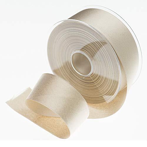 Sirene Doppio Raso Made in Italy Bobina 25 Metri Alta qualità Morbido consistente, 100% Poliestere (Oro, 10)