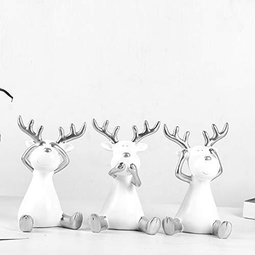 Dekorative Dekofigur für Weinschrank, Kunstharz, Ornamente kreatives Geschenk 13X9X10CM Silberne und silberfarbene Ecke