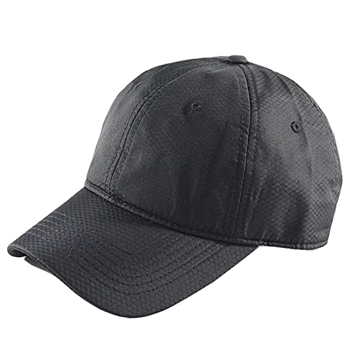 DELLA Baseball Cap Men Snapback Solid Color Baseball Cap Quick Dry Caps for Men Women Outdoor Sun Hats-Black_L(60-65CM)