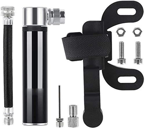FLOME Mini Fahrradpumpe,ragbare Luftpumpe Ball Pumpe Hochdruck mit Nadel, leicht, und kompakt zuverlässig Ventile für Fußball, Basketball, Volleyball und Road Fahrrad Reifen.