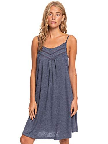 Roxy Damen Knit Dress Rare Feeling - Trägerkleid Für Frauen, Mood Indigo, XL, ERJKD03295