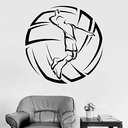 Volleyball Wandtattoo Spieler Ball Sport Vinyl Aufkleber Fenster Wandbild Fitnessstudio Innendekoration Kunst Aufkleber 42 * 42 cm
