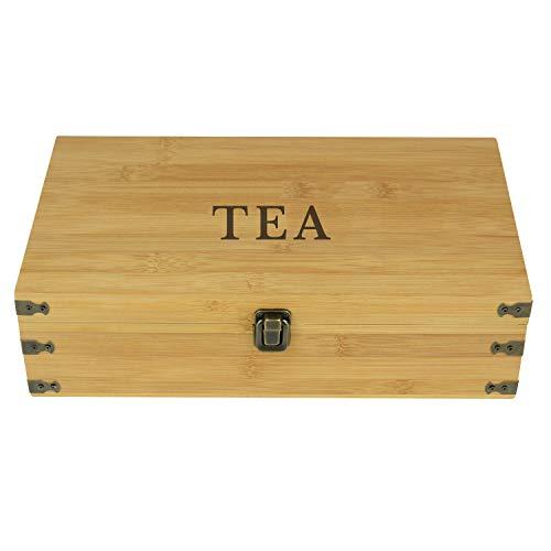 Zen Earth Bamboo Storage Box Tea Chest | Beautiful Wooden Kitchen Organizer...