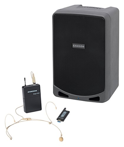 Samson Expedition XP106wDE-Rechargeable Portable PA with Headset Wireless System and...