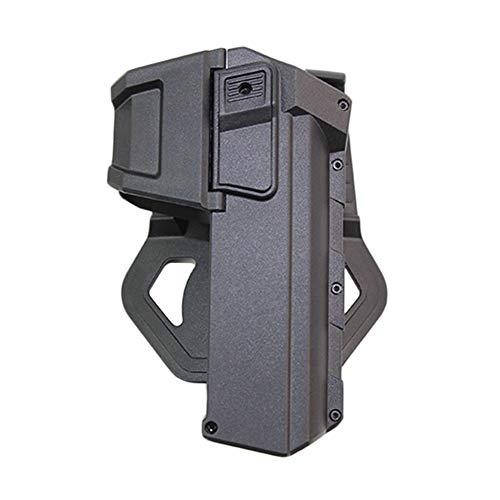 TXWTF Tactique Mobile Holsters Pistolet Airsoft Gun Holster for Glock 17 18 avec Lampe De Poche Ou Laser Monté Holster Droite Taille À La Main (Color : Black)
