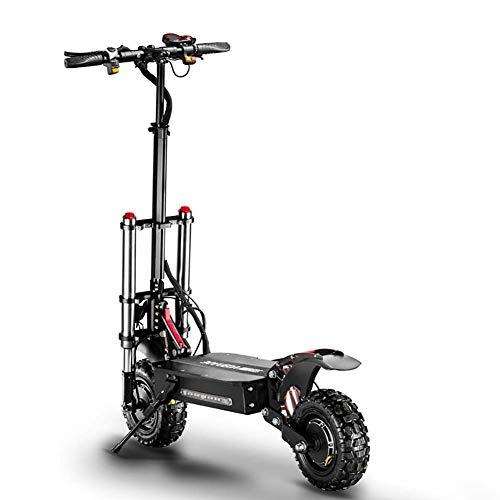 Zzzy Patinete/Scooter eléctrico Dos Ruedas, Motor 2700W, Velocidad hasta 85Km/h, 11 Pulgadas...