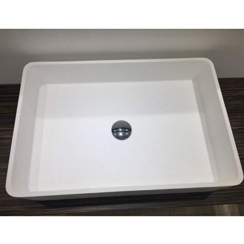 Hiwenr Bad Rechteckig Über der Theke Waschbecken Garderobe Mineralwerkstoff Waschtisch