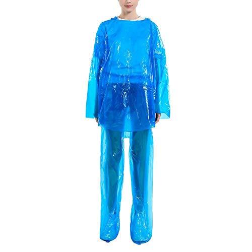 cypressen Tragbare Regenmantel für Erwachsene, Einweg-Regenjacken Schuhüberzieher, wasserdichte, leichte Regenbekleidung mit Kapuze für Angeln Wandern Camping Konzert