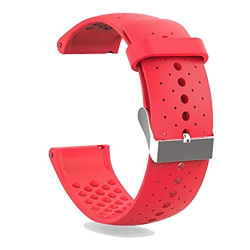KINOEHOO Correas para relojes Compatible con Polar Vantage M Pulseras de repuesto.Correas para relojesde silicona.(rojo)