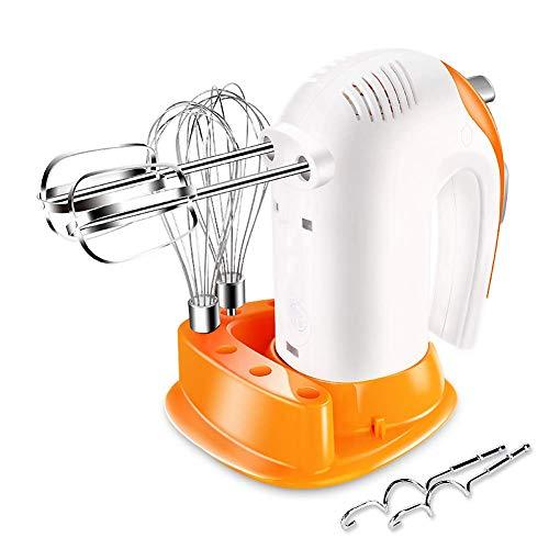 unknow Handheld Mini Eierschläger, Elektrische Handmixer für die Küche Haushalt Automatische Schneebesen 300 W Hochleistungs-Handmixer 5-Gang-Einstellungen-Weiß