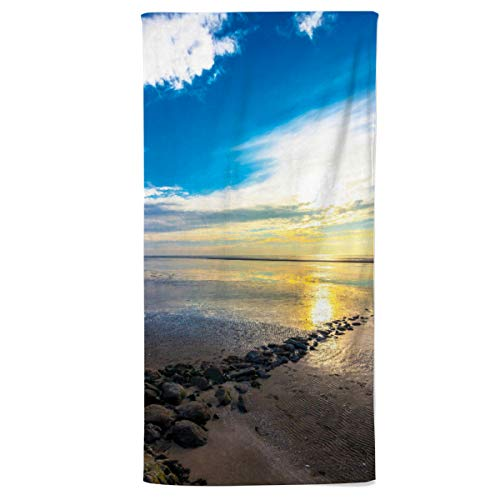 fotobar!style Handtuch 50 x 100 cm Wattenmeer Nordsee